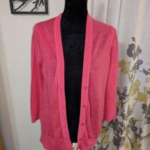 Pink LOFT Soft Cardigan - Size M